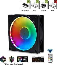 EZDIY-FAB RGB Fan Frame Fan Grill with RGB,120mm Fan mounting with Controller(ASUS Aura Sync,GIGABYTE RGB Fusion and MSI Mystic Light Sync)-1pack