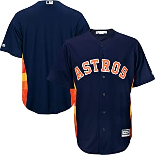 Outerstuff Houston Astros Blank Navy Youth Cool Base Alternate Team Jersey