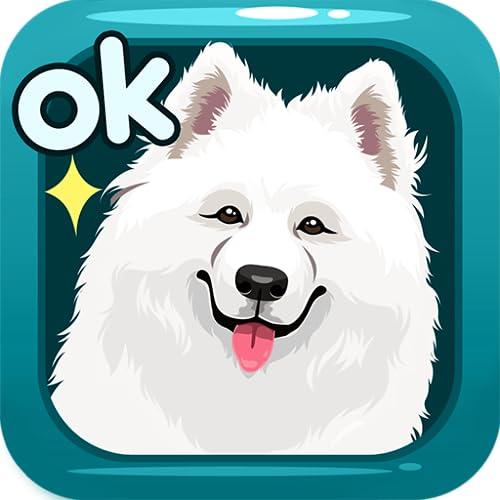 Samoyed Dog Sticker Emojis - Gif Animated Keyboard App