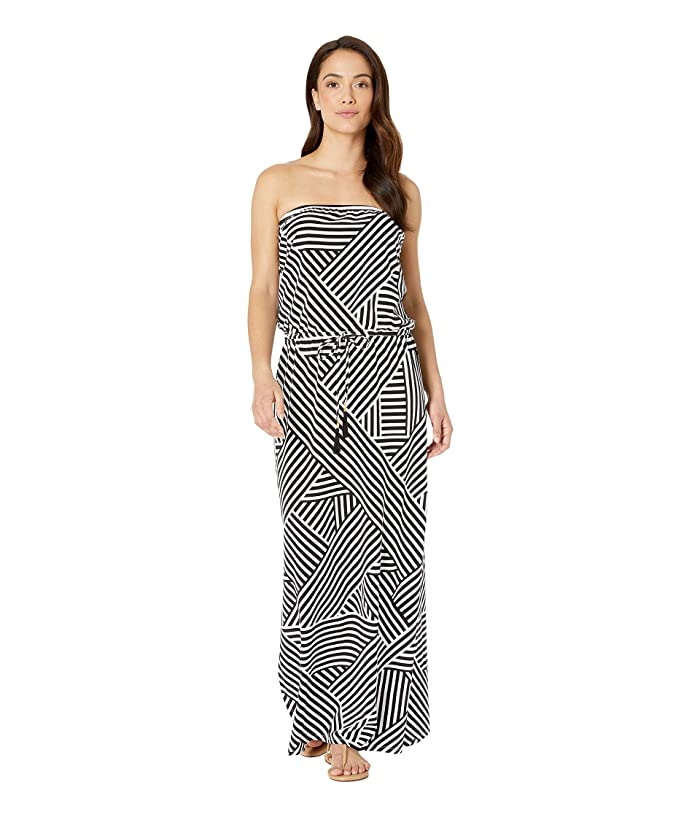 c92c5585f9 Tommy Bahama Fractured Stripe Bandeau Maxi Dress Cover-Up at Zappos.com