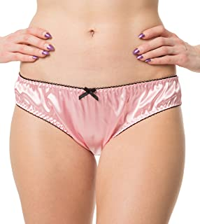 Satini Women's Lingerie Frilly Bikini Briefs Knickers Satin Panties