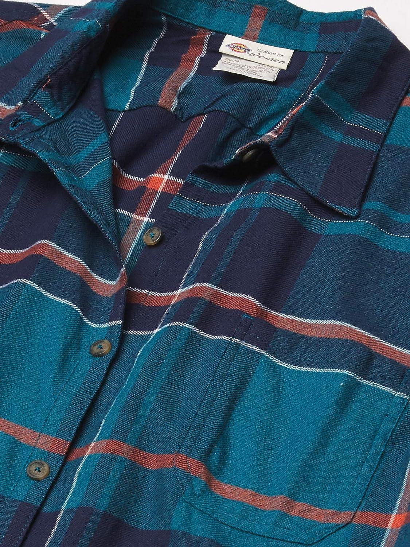 Dickies Women's Long-Sleeve Plaid Flannel Shirt