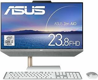 ASUS 一体型パソコン ZenAiO 24 A5401W (Core i3-10100T/8GB・SSD 512GB(PCIE 3.0×2)/23.8インチ/FHD/Webカメラ/ワイヤレスキーボード&マウス付属/WPS Office)【日本...