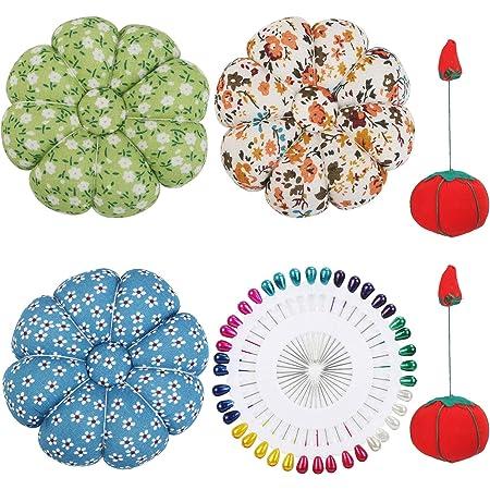 44 Teiliges Nadelkissen Set mit Stecknadeln Ma/ßband Nahttrenner und Tomaten- oder Erdbeer Nadelkissen Erdbeere