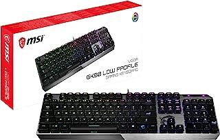 MSI Vigor GK50 Low Profile IT Tastiera Gaming Meccanica (Kailh LP White), retroilluminazione LED RGB Mystic Light per sing...
