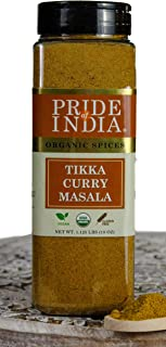 Pride Of India - Organic Indian Tikka Curry Masala Sesaoning Spice- 16 oz (453 gm) Large Dual Sifter Jar - Perfect for Chicken Tikka Curry, Kaboob Skewers, Tomato Sauces - Offers Best Value for Money