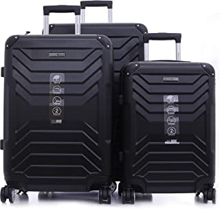 PARA JOHN Travel Luggage Suitcase Set of 3 - Trolley Bag, Carry On Hand Cabin Luggage Bag - Lightweight Travel Bags with 3...