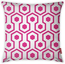 Mon Desire Decorative Throw Pillow Cover, White/Pink, 44 x 44 cm, MDSYST2293