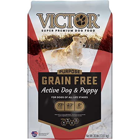 Victor Super Premium Pet Food Dog Food Grain-Free Active Dog & Puppy for All Life Stages - Beef - 5 (894308002169)