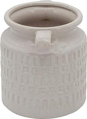 """Sagebrook Home 15850-01 7"""" H Jar W/Handles, White"""