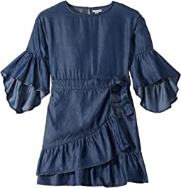 Erica Ruffle Hem Wrap Dress (Big Kids)
