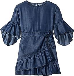 Erica Ruffle Hem Wrap Dress (Big Kids)