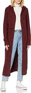 Urban Classics Damen Strickjacke Ladies Hooded Feather Cardigan, knielange Jacke für Frauen in 5 Farben, Größen XS - 5XL