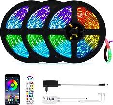 15 Meter Bluetooth LED Stripverlichting,OxyLED 3x5m Muziek Synchroniseren Kleur Veranderen 450 LED Strips RGB met Bluetoot...