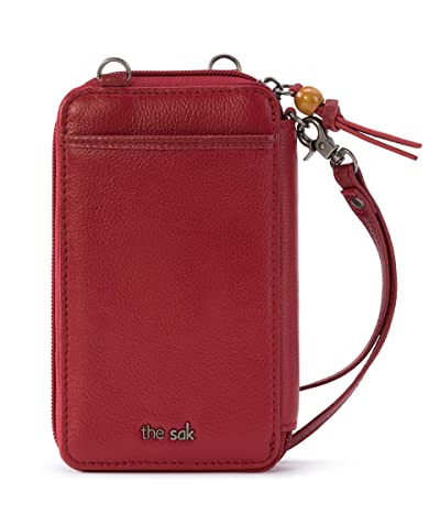 The Sak Iris North/South Smartphone Crossbody (Scarlet) Cross Body Handbags