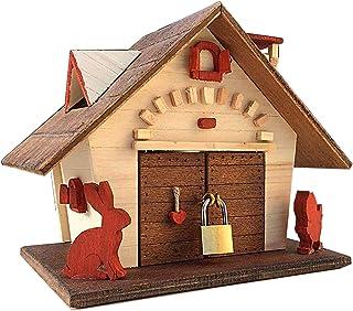 Salvadanaio in legno, idea regalo romantico per San Valentino, salvadanaio di nozze, casetta in legno regalo anniversario ...
