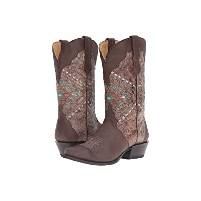 Roper Native (Brown Burnished) Cowboy Boots