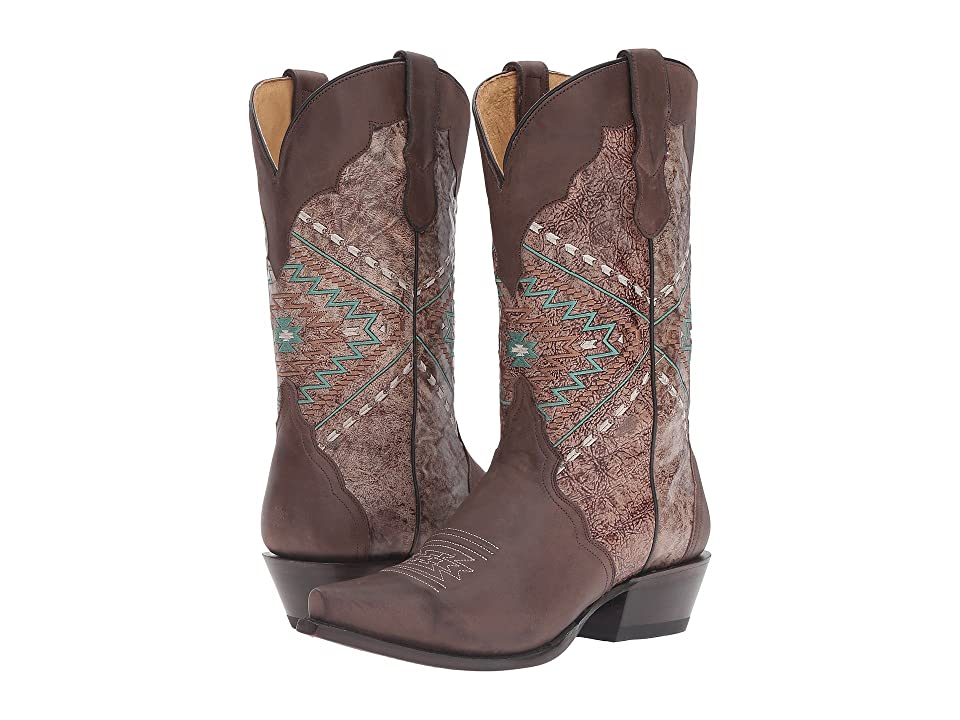 Roper Native (Brown Burnished) Cowboy Boots