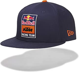 Red Bull KTM New Era 9Fifty Snapback Flat Cap, Blue Unisex Hat, KTM Factory Racing Original Clothing & Merchandise