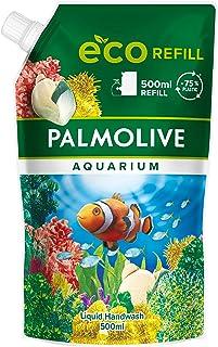 Palmolive Mydło akwarium 1 x 500 ml worek do uzupełniania, łagodne mydło do delikatnego czyszczenia rąk, testowane dermato...