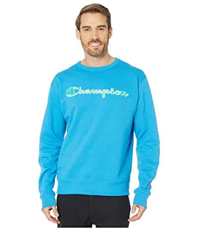 Champion Powerblend(r) Applique Crew (Deep Blue Water) Men