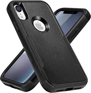 Sansunto for iPhone XR Case, Shockproof Durable Heavy Duty Full Body Defender Anti-Drop Hybrid Bumper Protective Cover for...