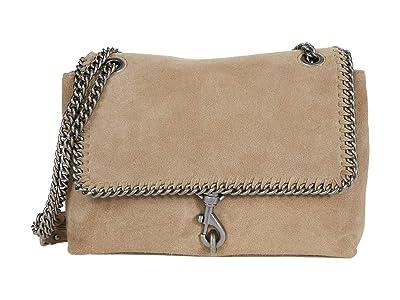 Rebecca Minkoff Edie Flap Shoulder w/ Woven Chain (Sandrift) Handbags