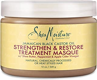 Shea Moisture Jamaican Black Castor Oil Strengthen & Restore Treatment Masque, 12 oz.