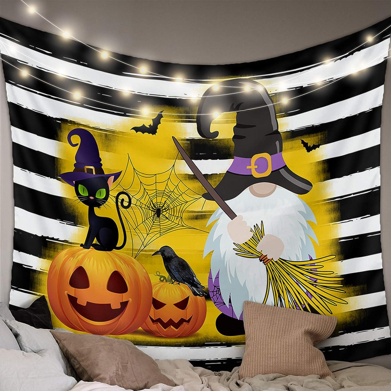 Womenfocus 5 ☆ popular WallHangingTapestries Happy Dallas Mall and Pumpkin Halloween