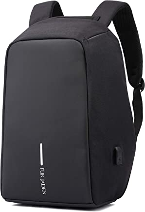 e439325c88c Fur Jaden Black Anti Theft Waterproof Casual Backpack with USB Charging  Point