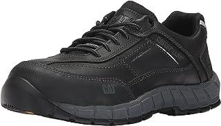 حذاء عمل ستريملاين من الجلد CT/لون بيج داكن للرجال من كاتربيلار