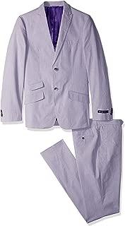 Men's Purple Hairline Stripe Suit