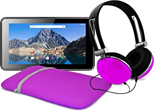 Ematic 7-Inch Android 7.1 (Nougat), Quad-Core 16GB Tablet with Folio Case and Headphones