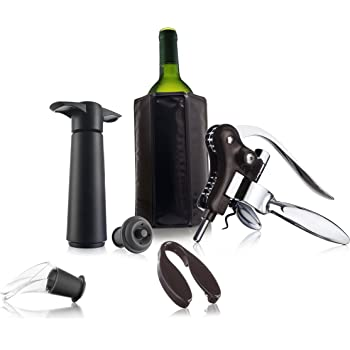Compra Vacu Vin 69002606 Estuche De Regalo Wine Set Professional, Negro, 16 x 8 x 20 cm, 8 Unidades en Amazon.es