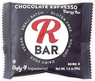 RBar Whole Food Chocolate Espresso Coffee Energy Bar - Dairy & Gluten Free Snacks, Vegan Protein Bar - 4 Healthy Ingredien...