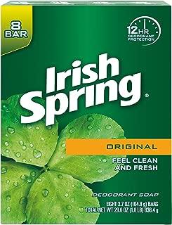 Irish Spring Deodorant Soap, Original Bar Soap (8 Count)