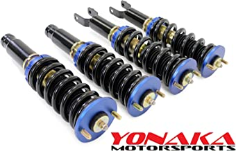 Yonaka Compatible with Honda Civic 92-95 EG 93-97 Del Sol Spec 1 Full Coilovers Suspension DRAG RACE Version