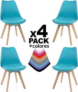 ced67805c duehome - Beench - Pack de 4 sillas, silla comedor, salón, cocina o