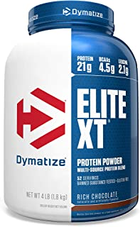 Dymatize Elite XT Protein Powder, Multi-Source Protein, 21g Protein, 4.5g BCAAs & 2.2g L-Leucine, with Slower Absorbing Ca...