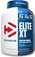 Dymatize Elite XT Protein Powder, Multi-Source Protein, 21g Protein, 4.5g BCAAs & 2.2g L-Leucine, with Slower Absorbing Ca...