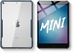 TineeOwl iPad Mini 5/4 Ultra Slim Clear Case, Flexible TPU, Absorbs Shock, Lightweight, Thin (Navy Blue)