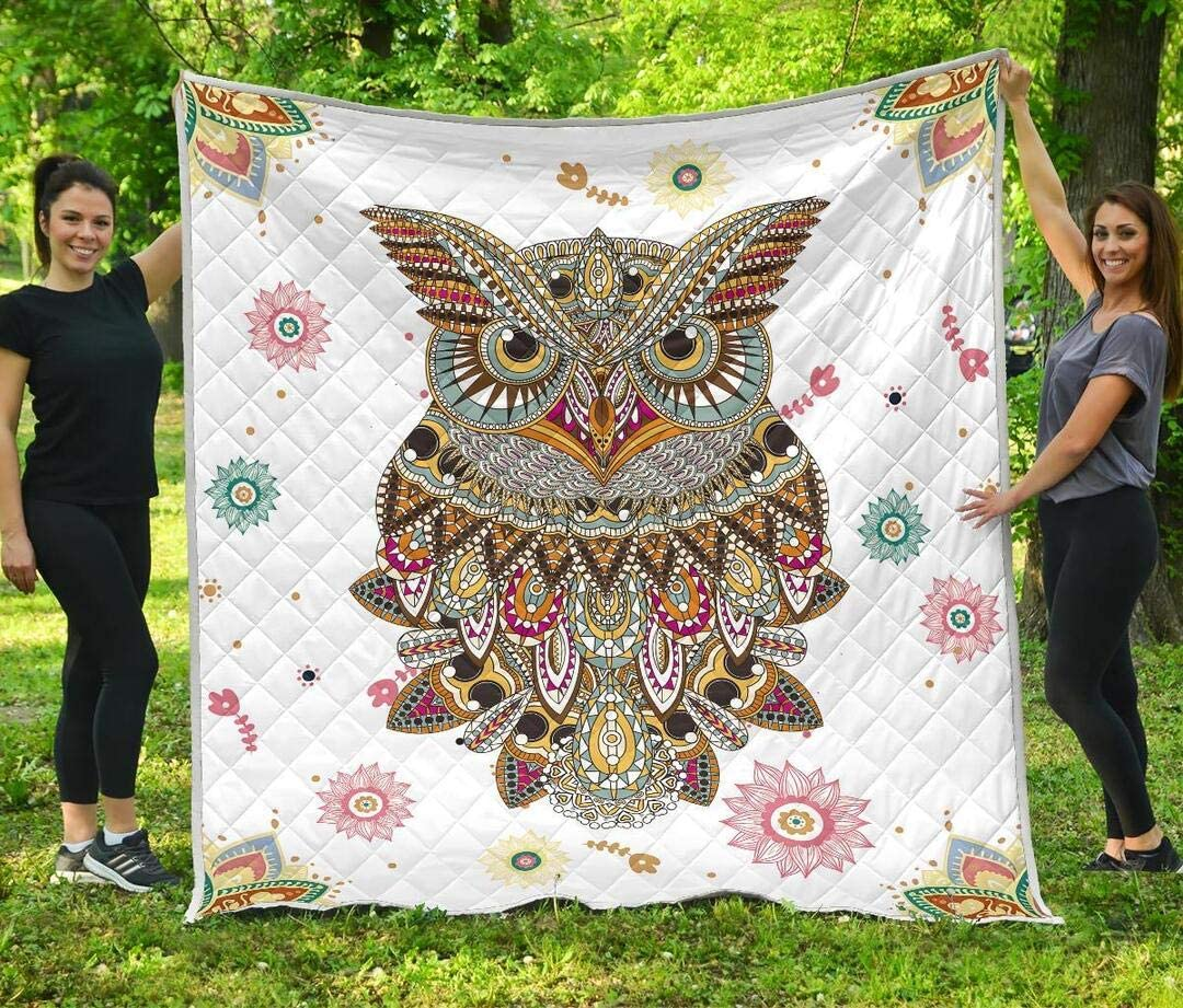 mart Personalized Owl Quilt Gift for Lovers Quantity limited Birthday Your Boys Kids