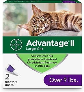 Bayer Animal Health Flea Prevention Cats, Over 9 lbs, 2 Doses, Advantage II