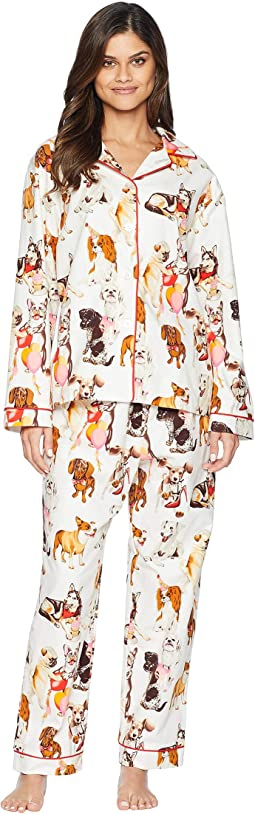 Party Pups Flannel Pajama Set