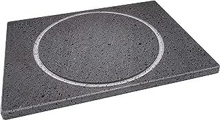 Etna Stone & Design Pizza Stone Pierre à pizza 40 x 30 x 2 cm et pelle en mai, pierre de lave et plaque de cuisson pour fo...