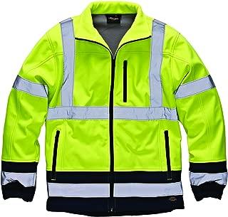 Mens Two-Tone Hi-Vis Waterproof Softshell Jacket