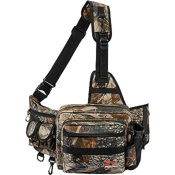 Piscifun Sling Fishing Tackle Bag, Outdoor Fishing Storage Pack, Water-Resistant Fishing Bag Cross Body Sling Bag(Black, Khaki, Camouflage)