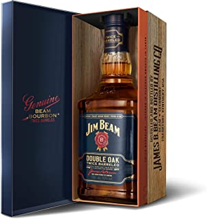 Jim Beam Double Oak Kentucky Straight Bourbon Whiskey, mit Geschenkverpackung, 43% Vol, 1 x 0,7l