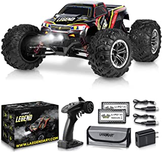 1:10 Scale Large Remote Control Car 48km/h+ Speed | Boys 4x4 Off Road Monster Truck Electric RC Cars | All Terrain Waterproof Toys Trucks for Kids and Adults | 2 Batteries + Connector for 30+ Min Play