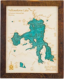 Tims Ford Lake - Franklin County - TN - 2D Map 11 x 14 in (Brown Rustic Frame with Glass) - Laser Carved Wood Nautical Chart and Topographic Depth map.